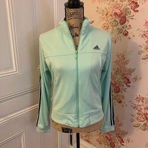 Adidas Mint Green Lightweight Athletic Jacket